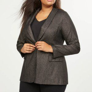 Lane Bryant black sparkle stretch blazer plus 24